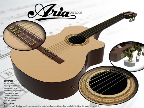 گیتار آریا Ak30ce